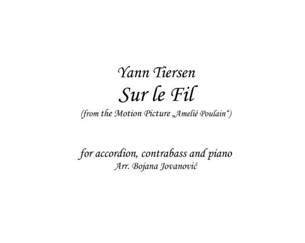 Sur le fil (Yann Tiersen) - Sheet Music