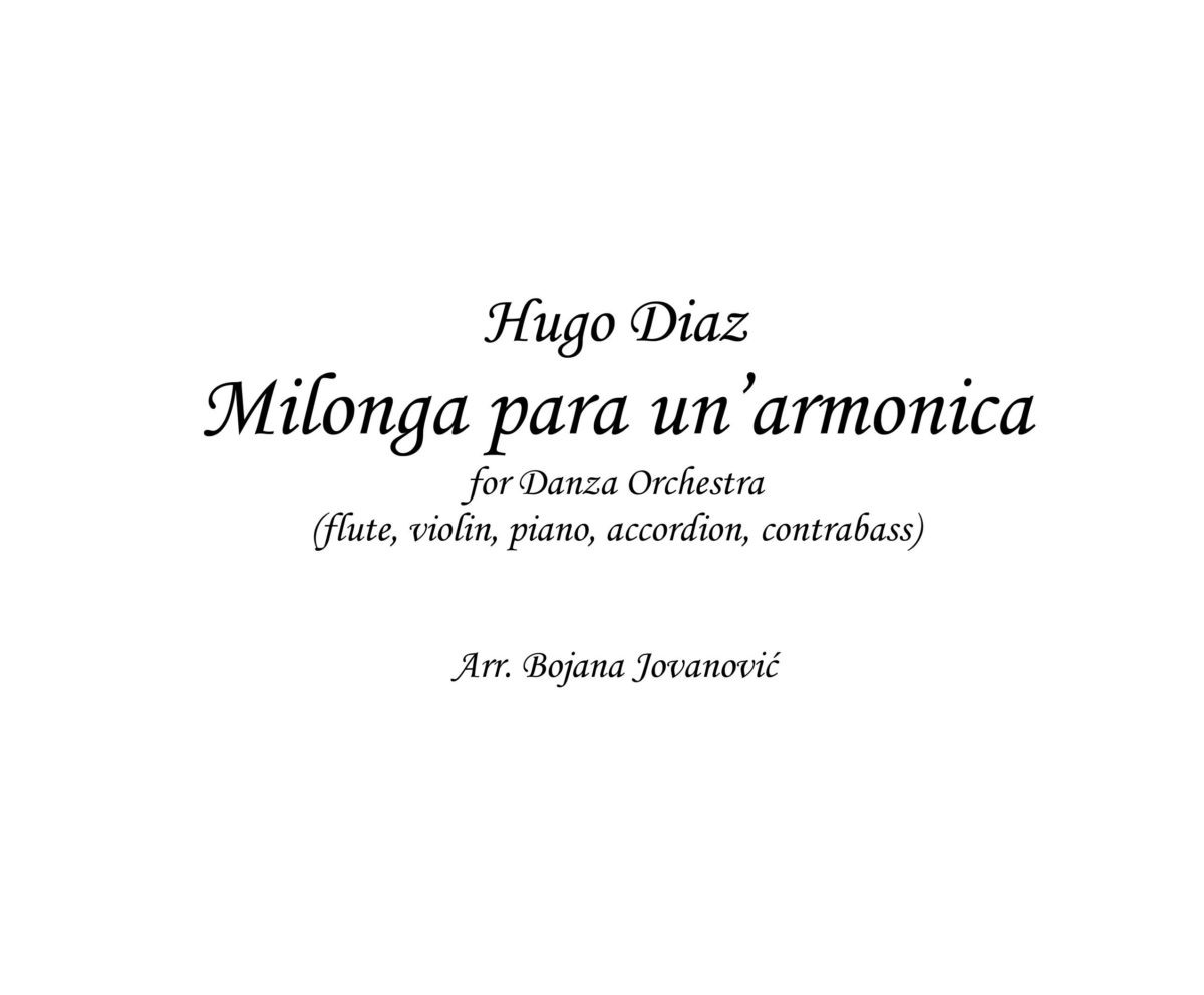 Milonga para un'armonica (Hugo Diaz) - Sheet Music