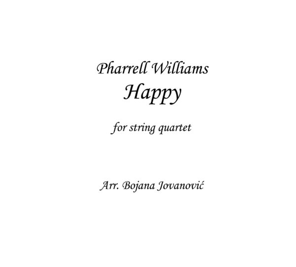 Happy (Pharrell Williams) - Sheet Music