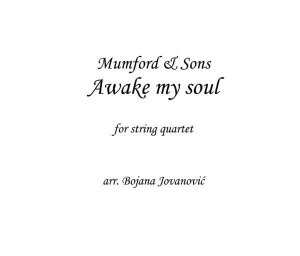 Awake my soul (Mumford and Sons) - Sheet music