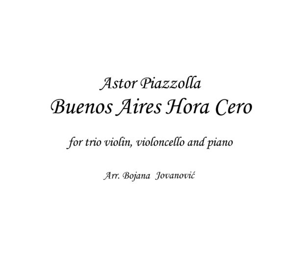 Buenos Aires Hora Cero (Astor Piazzolla) - Sheet music