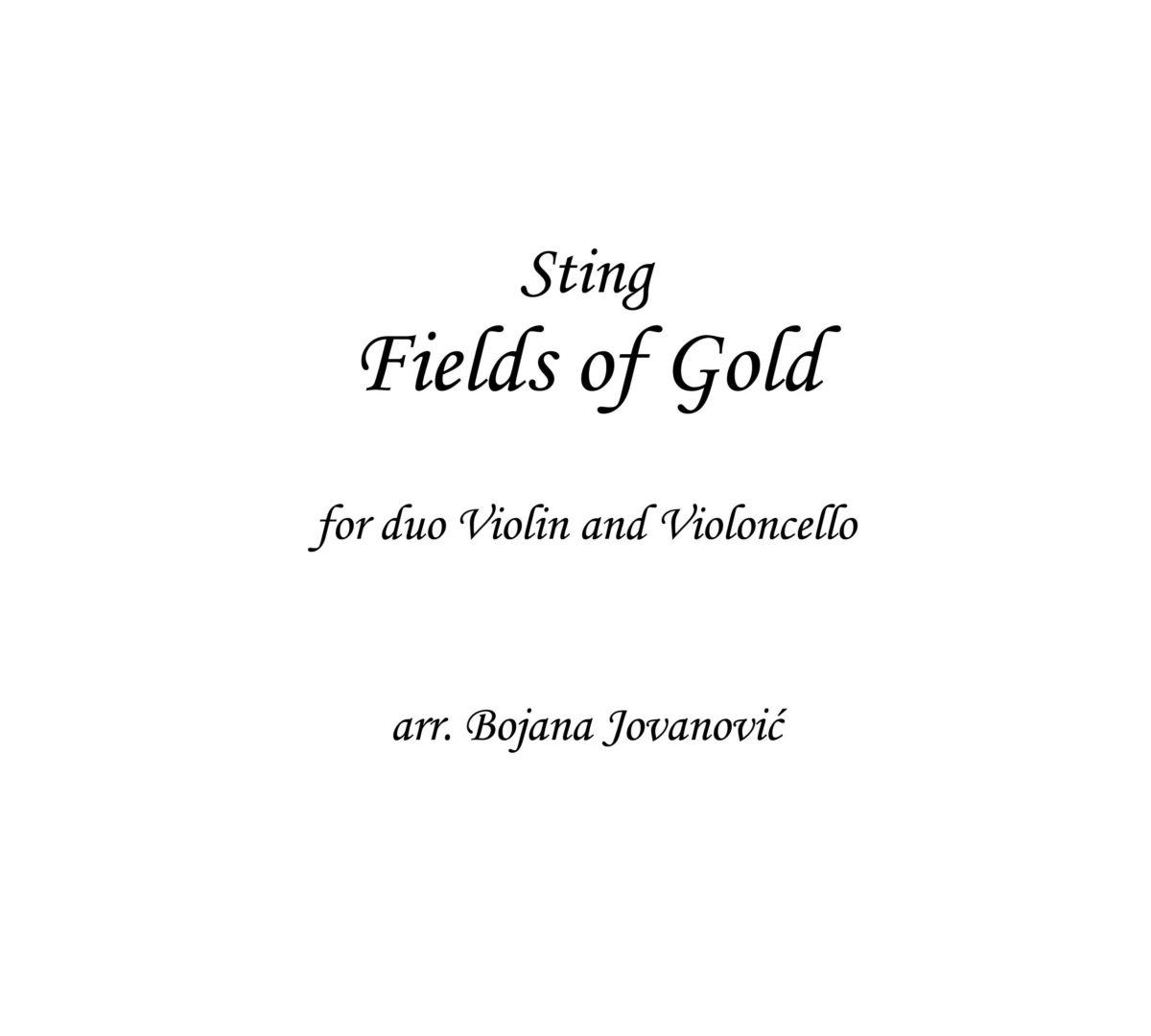 Fields of gold (Sting) - Sheet Music