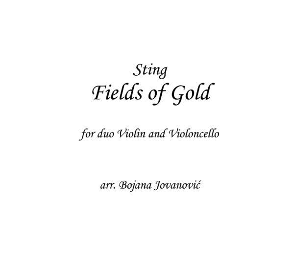 Fields of gold (Sting) - Sheet Music