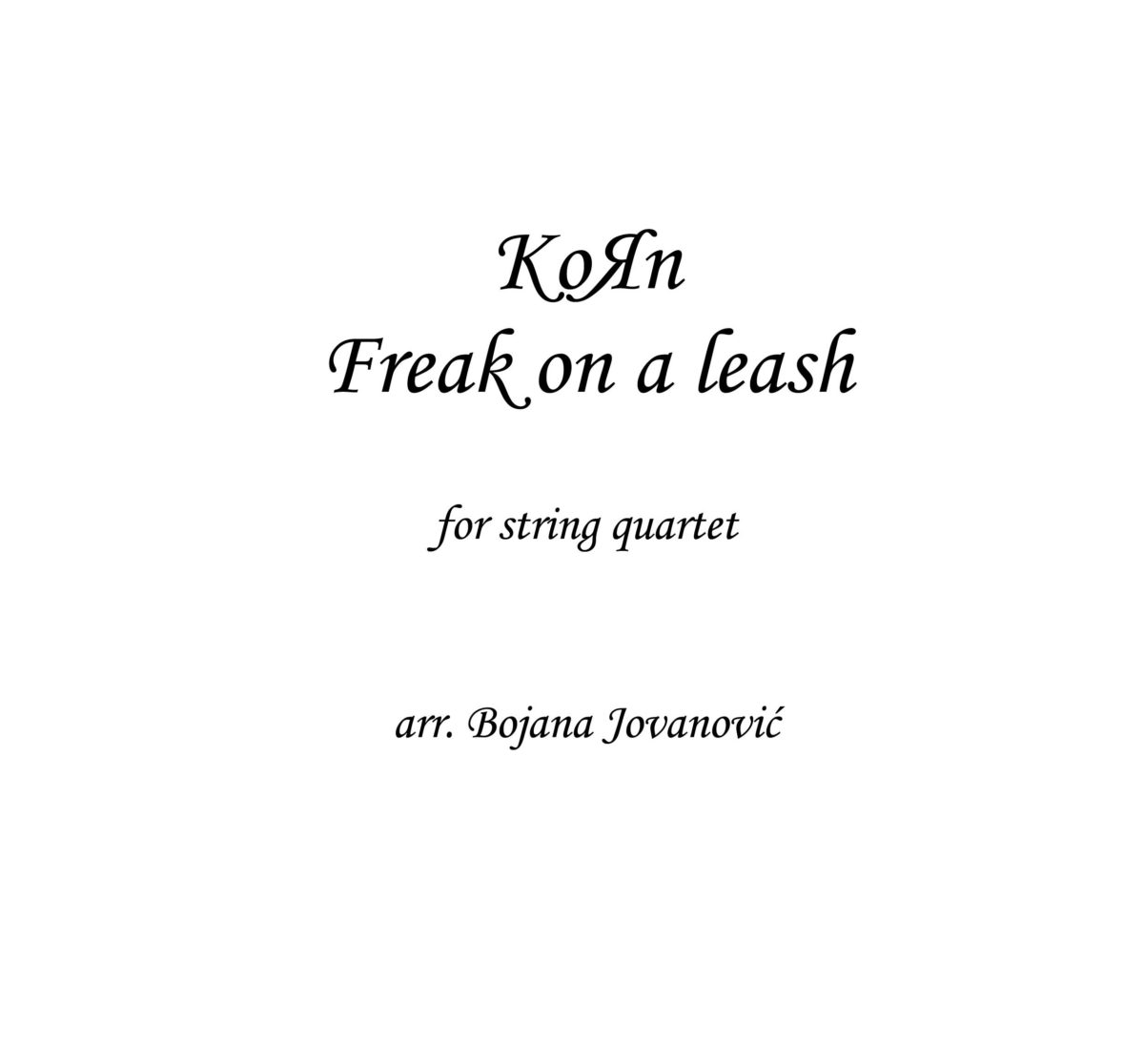 Freak on a leash (Korn) - Sheet Music