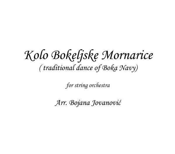 Kolo Bokeljske mornarice (traditional dance of Boka Navy) - sheet music
