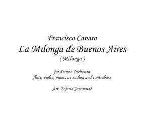 La milonga de Buenos Aires (Francisco Canaro) - Sheet Music