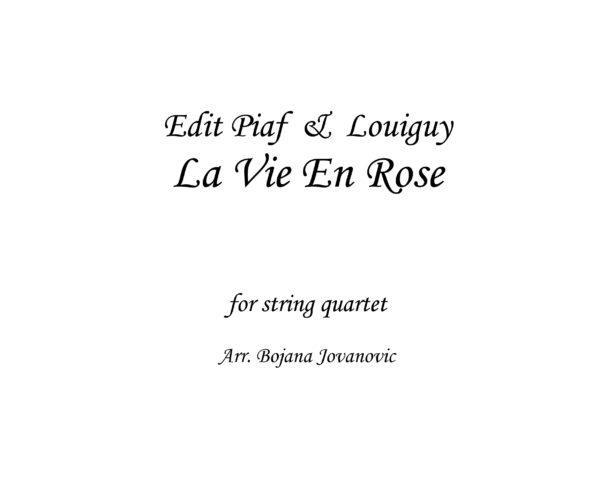 La vie en rose Sheet music