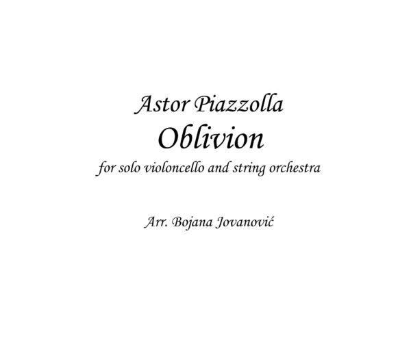 Oblivion Sheet music (Astor Piazzolla)