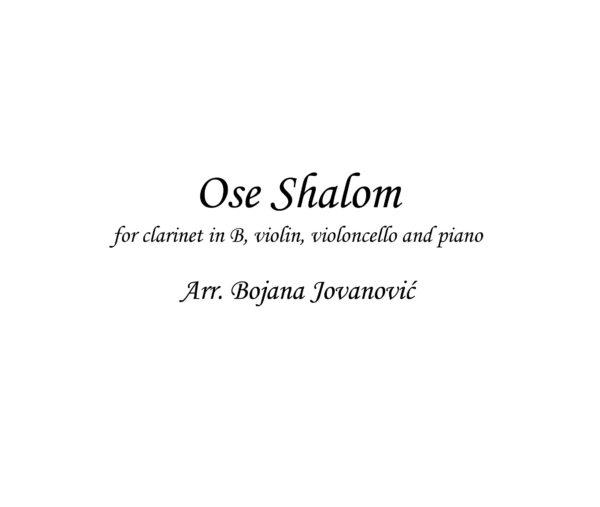 Ose Shalom (Klezmer) - Sheet Music