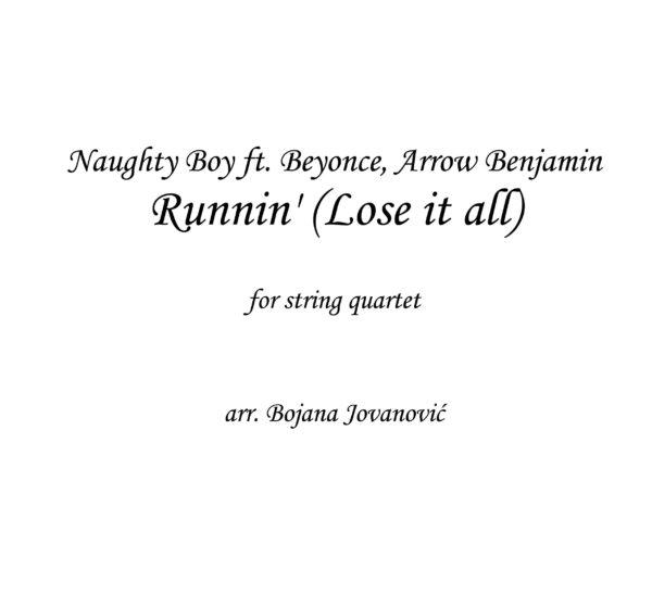 Beyonce Runnin Sheet music (Naught Boy ft Beyonce)