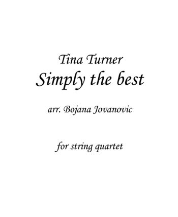 Simply the best (Tina Turner) - Sheet Music