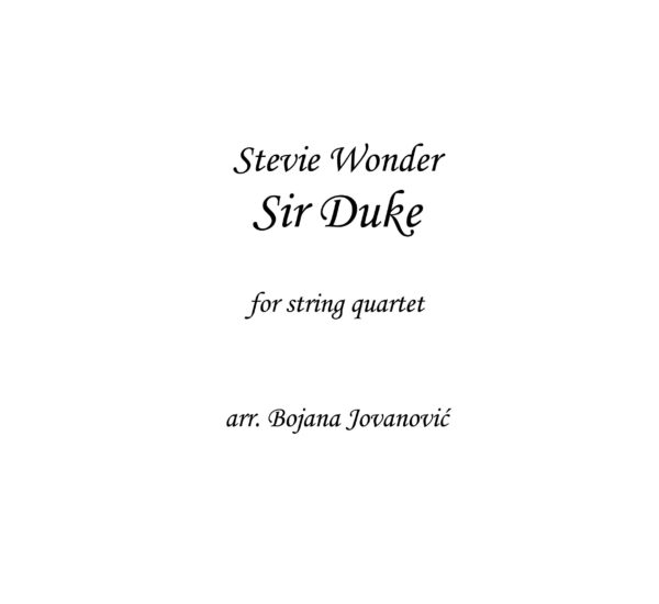 Sir Duke (Stevie Wonder) - Sheet Music