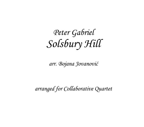 Solsbury Hill (Peter Gabriel) - Sheet Music
