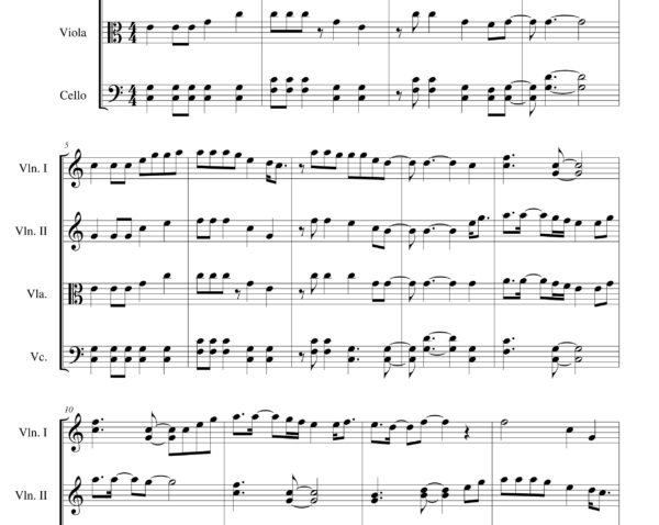 Some Nights (Fun) string quartet- Sheet Music