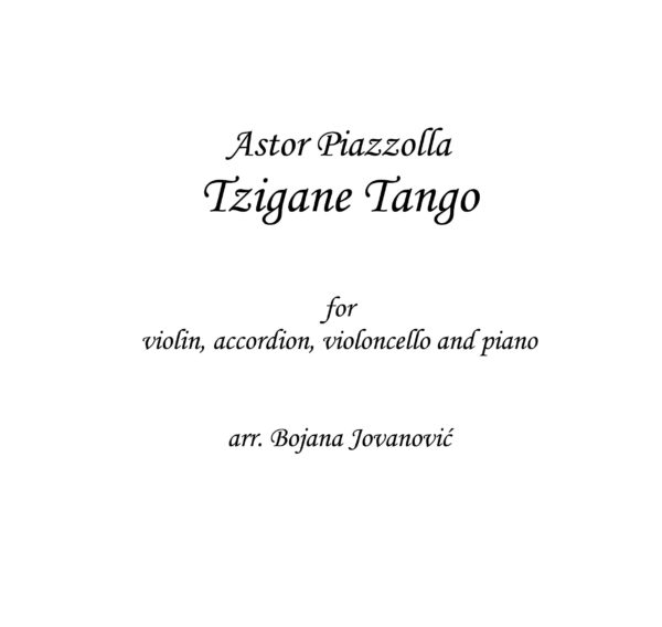 Tzigane Tango Sheet music (Astor Piazzolla)