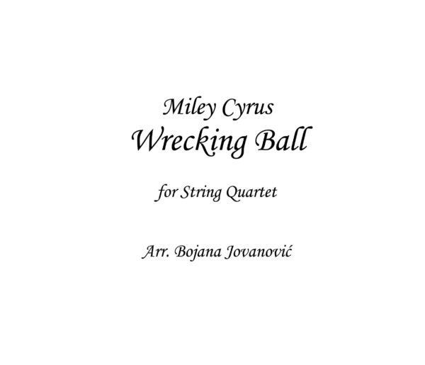 Wrecking ball (Miley Cyrus) - Sheet Music