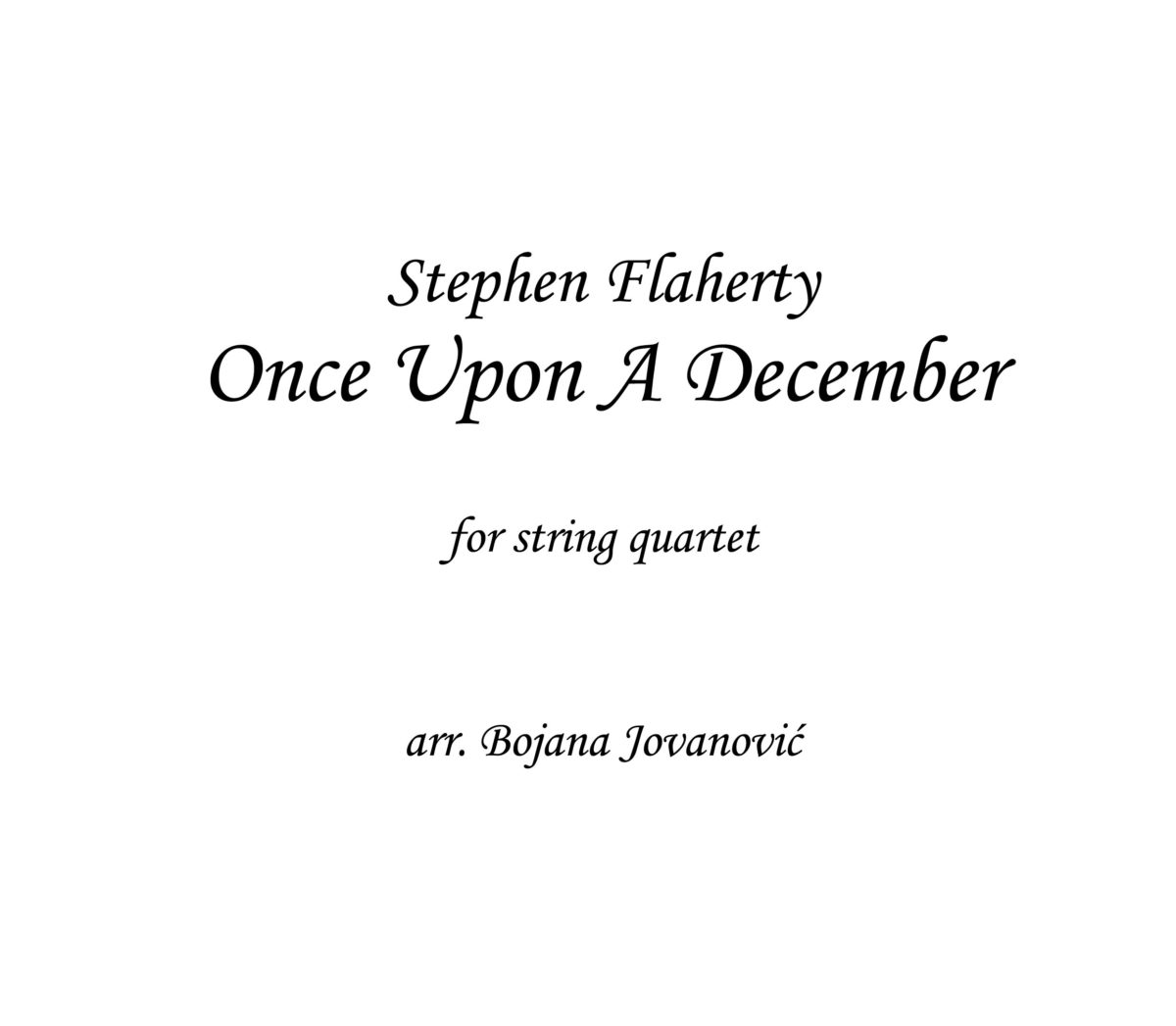 Once upon a December Sheet music (Anastasia)