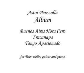 Astor Piazzolla Sheet music