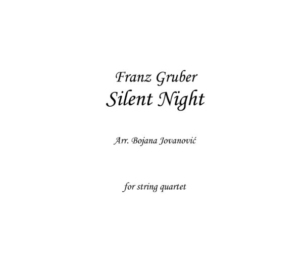 Silent Night (Christmas song) - Sheet Music