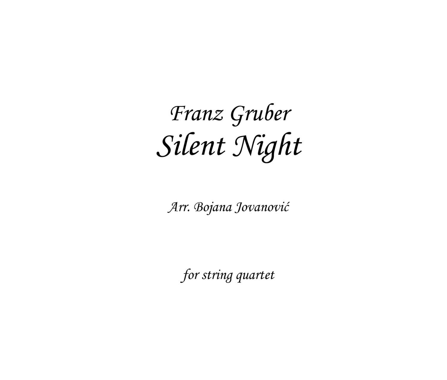 Silent Night (Christmas song) - Sheet Music
