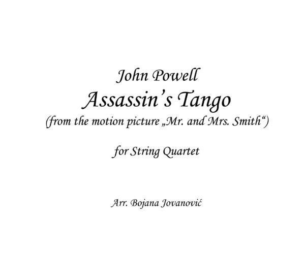 Assassin's Tango (John Powell) - Sheet music