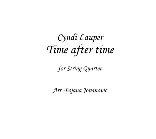 Time after time Sheet music (Cyndi Lauper)