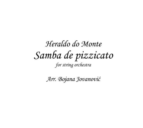 Samba de pizzicato (Heraldo do Monte) - Sheet Music