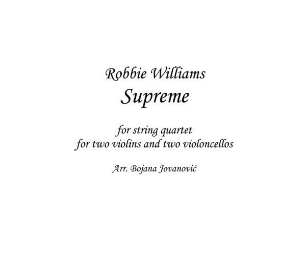 Supreme (Robbie Williams) - Sheet Music