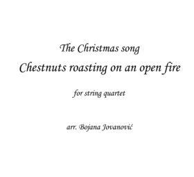 Chestnust roasting (Christmas song) - Sheet Music