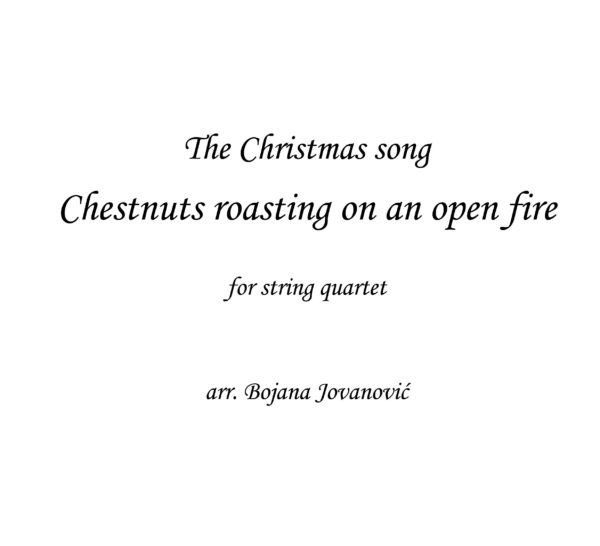 Chestnust roasting (Christmas song) - Sheet Music