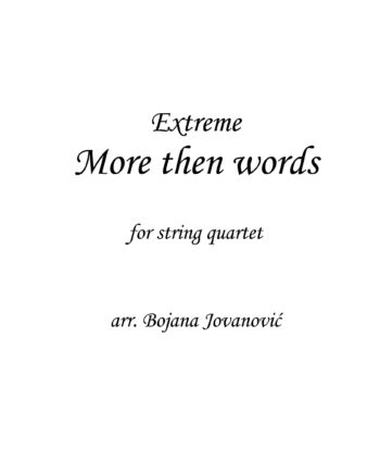 More then words (Extreme) - Sheet Music