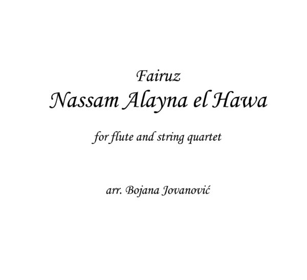 Nassam ALayna el Hawa (Fairuz) - Sheet Music