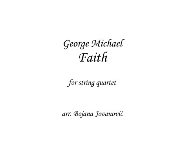 Faith (George Michael) - Sheet Music