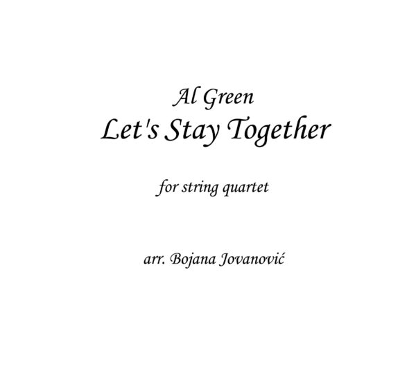 Let's stay together (Al Green) - Sheet Music