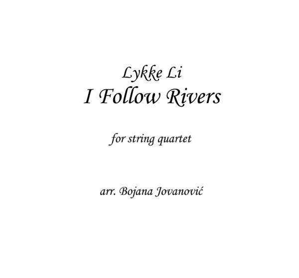 I follow rivers (Lykke Li) - Sheet Music