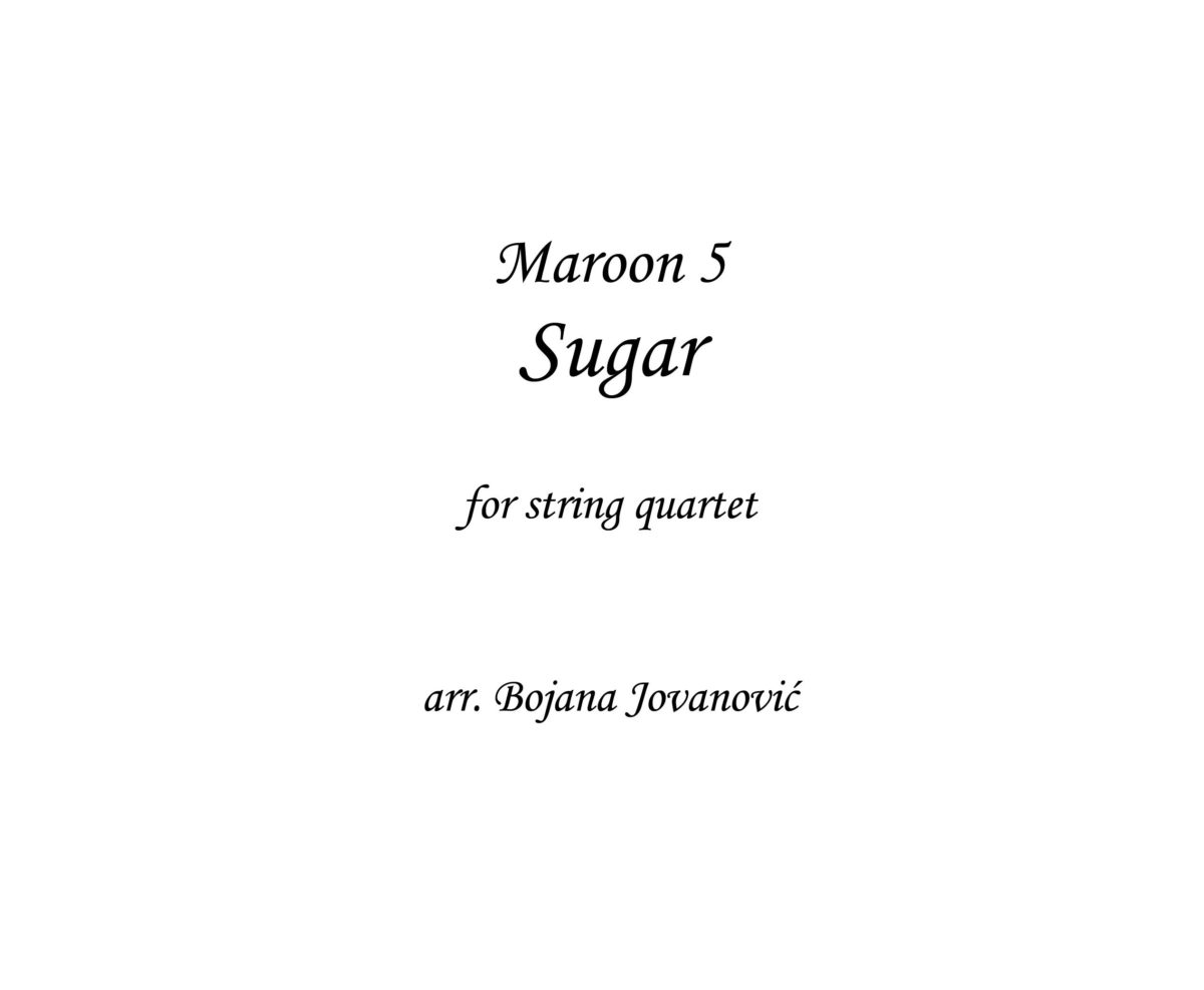 Sugar (Maroon 5) - Sheet Music