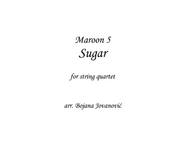 Sugar (Maroon 5) - Sheet Music