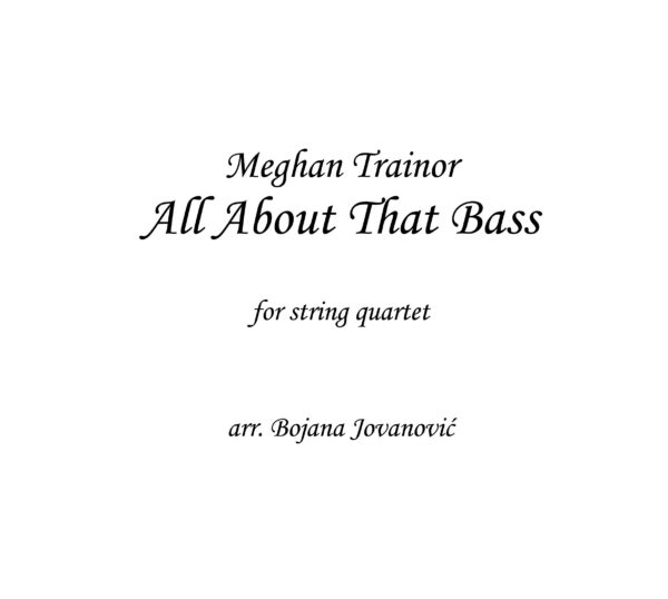 All about that bass (Meghan Trainor) - Sheet Music