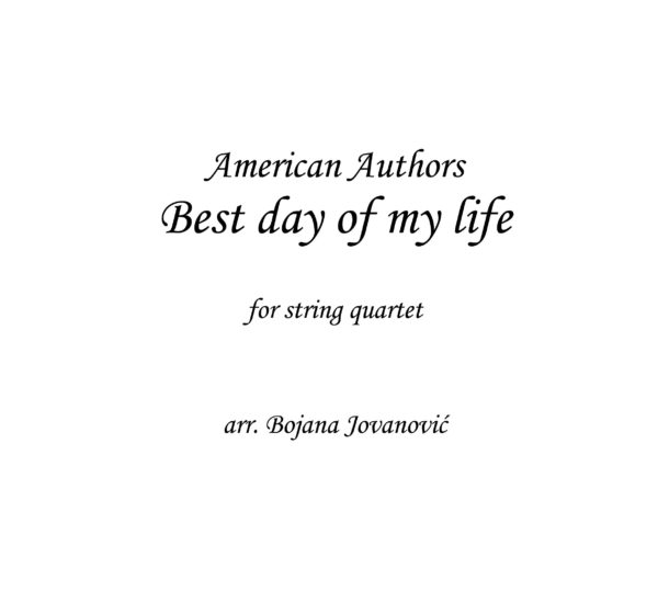 Best day of my life (American Authors) - Sheet Music