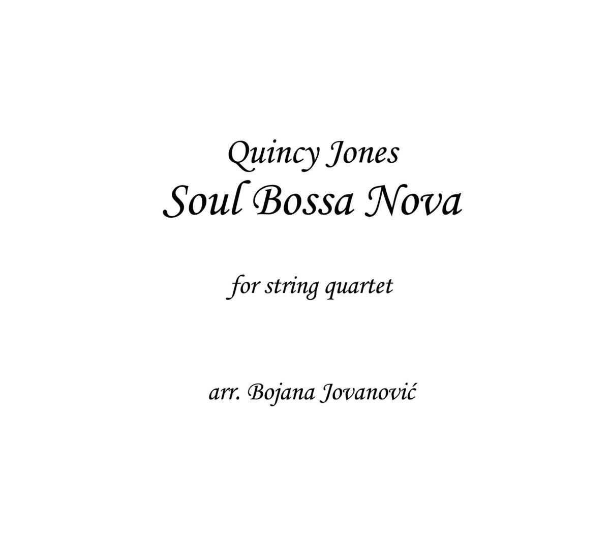 Soul Bossa nova (Quincy Jones) - Sheet Music