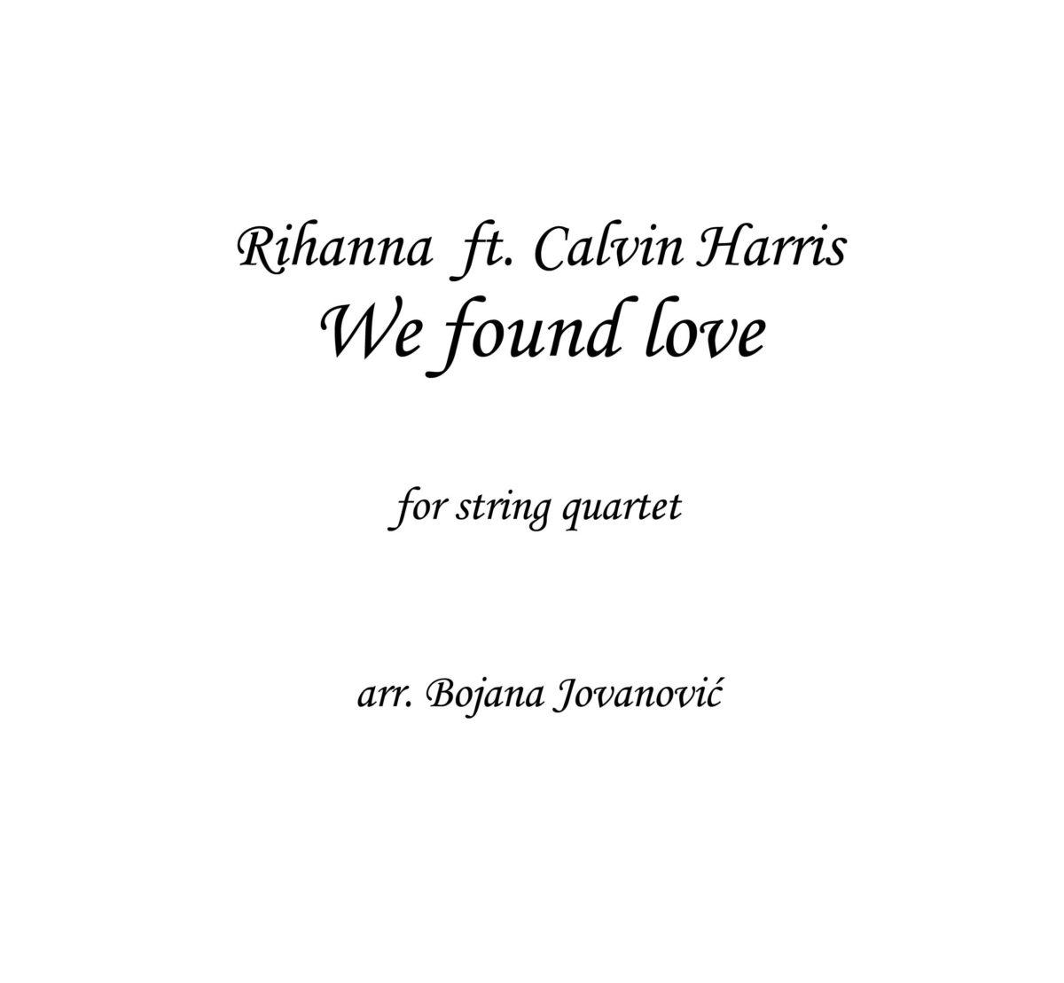 We found love (Rihanna) - Sheet Music