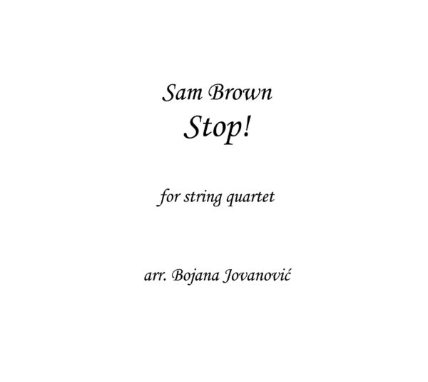 Stop! (Sam Brown) - Sheet Music