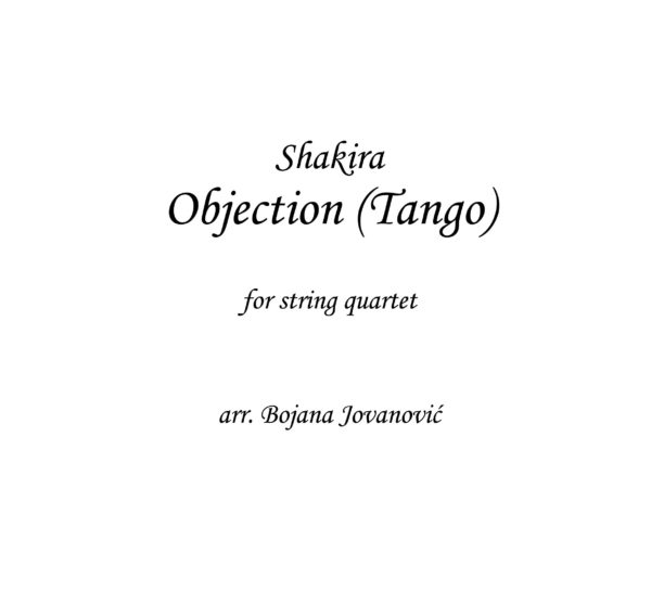 Objection (Shakira) - Sheet Music