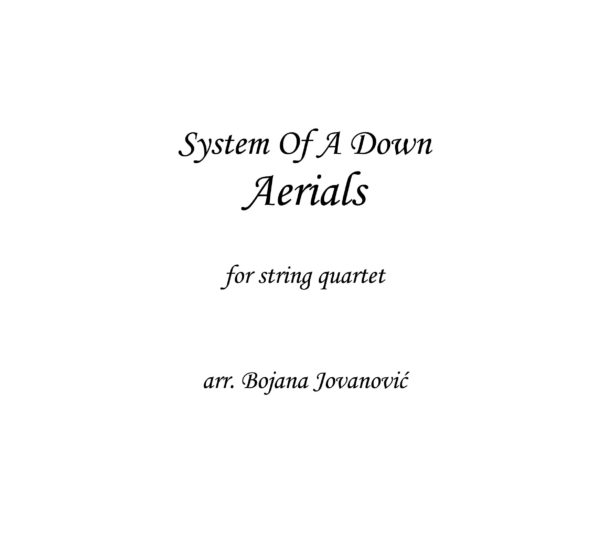 Aerials (System Of A Down) - Sheet Music