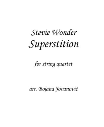 Superstition (Stevie Wonder) - Sheet Music