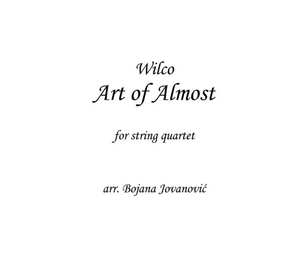 Art of almost (Wilco) - Sheet Music
