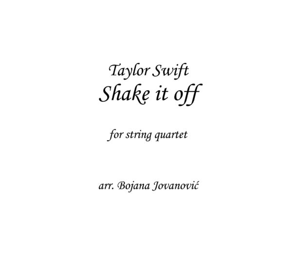 Shake it off (Taylor Swift) - Sheet Music