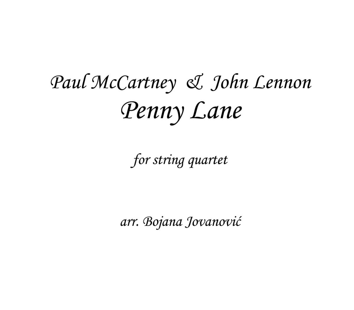 Penny Lane (The Beatles) - Sheet Music