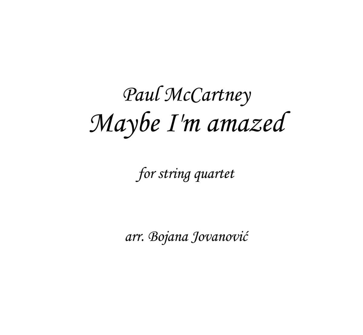Maybe I'm amazed (Wings) - Sheet Music
