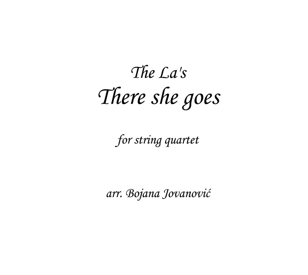 There she goes (The La's) - Sheet Music